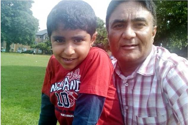 His father Amarjeet Cheema, pictured with Karan, has also demanded answers and said