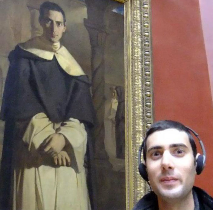 My Best Mate Went To The Louvre And Discovered A Painting Of Him Done Many Years Before