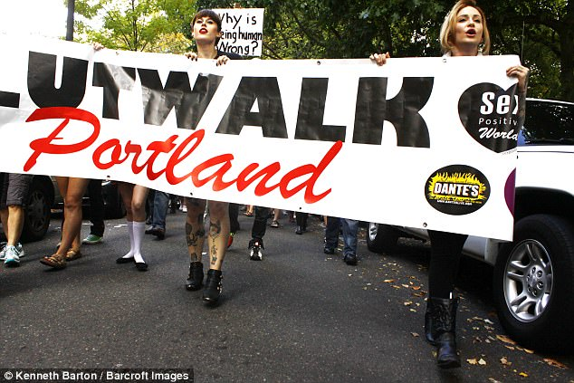 Elle is a proud feminist and organisises the annual Slutwalk in Portland to raise awareness around sexual violence and harassment
