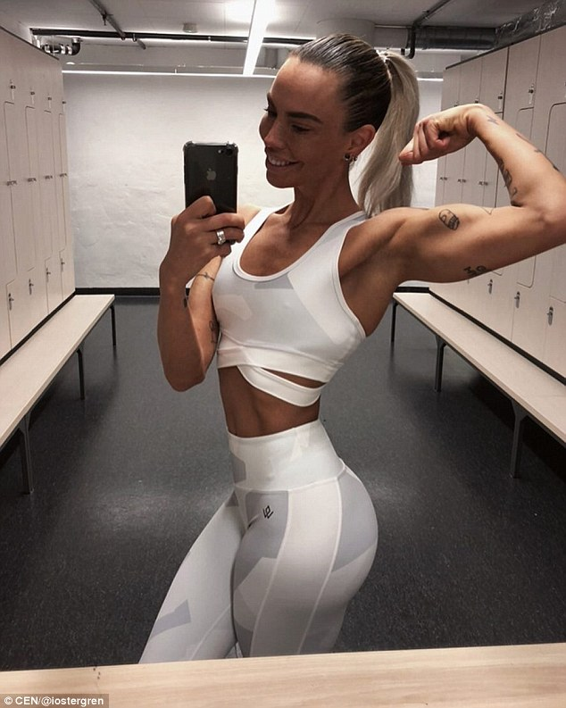 The bodybuilder eats up to  2.2kg of meat a week to maintain her athletic figure