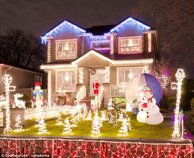 Christmas decorations are an integral part of the Christmas tradition and the people who get them up first are the happiest, experts claim.People with a love of festive decorations also hold onto good memories (stock)