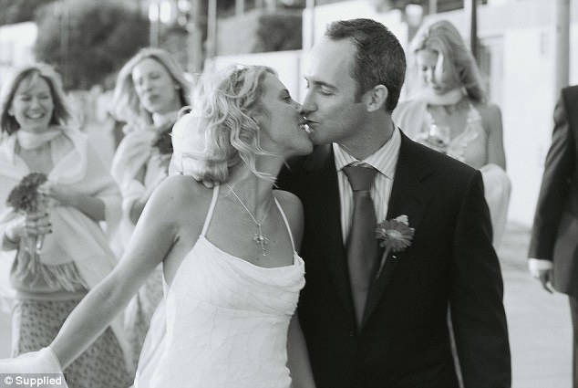 Ms Smith and husband Ash pictured on their wedding day in Sydney in 2005