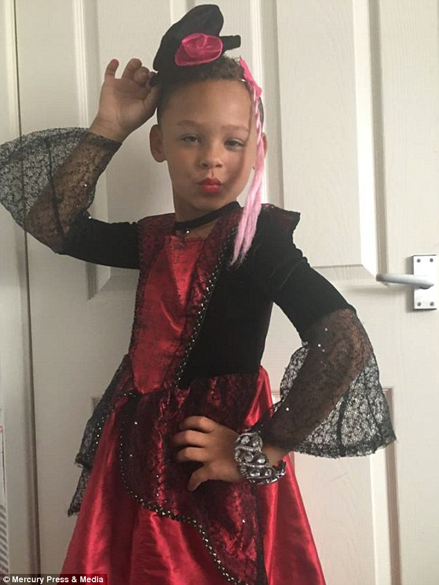 Fabian Butler, eight, from Gwentwho loves transforming himself into his drag alter ego Francesca (pictured in costume) and was inspired by hit TV show Ru Paul
