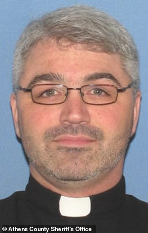 Rev. Christopher Foxhoven, 45, (pictured) was charged with face eight counts of sexual battery
