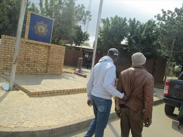 Feselani Mcube, 33, spent the night with the animal after it disappeared from its pen. He will be sentenced later this month