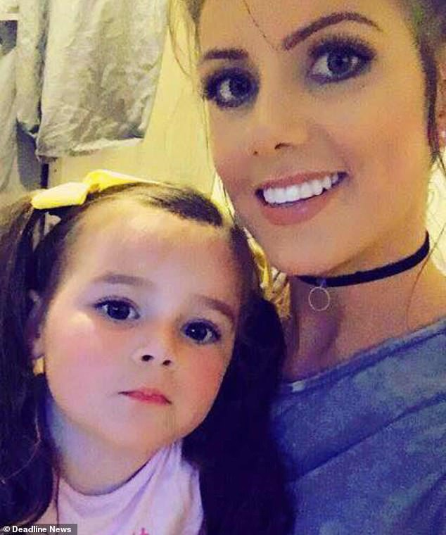 Homeless: The heartbreaking video of little Poppy, four, was filmed by her mother Leanne Dunleavy, 30, from Dublin, Ireland, who has been homeless for the past two years