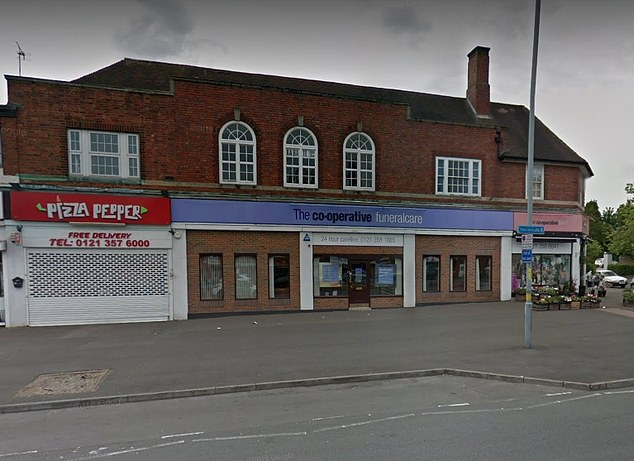Kasim Khuram, 23, from Birmingham, pleaded guilty to sexual penetration of a body at the Central England Co-operative Funeralcare home in Walsall Road (pictured)