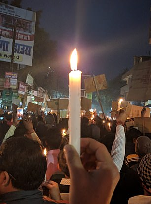 Hundreds of people turned out in protest in Gaya, in the state of Bindar, as residents were shocked by the heinous crime
