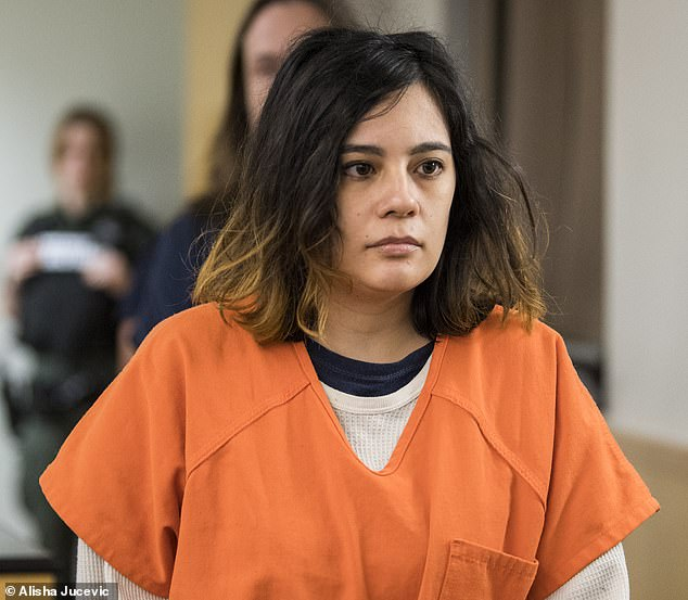 Emily Javier, 30, accused of attacking her boyfriend with a samurai sword has pleaded guilty to the attempted murder of her boyfriend. She could now face up to 20 years in jail
