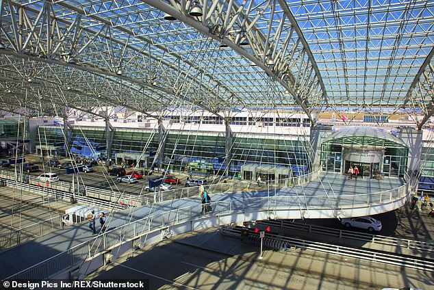 The attack happened at Gate C7 in Portland International Airport, the largest airport in the US state of Oregon (Stock photo)