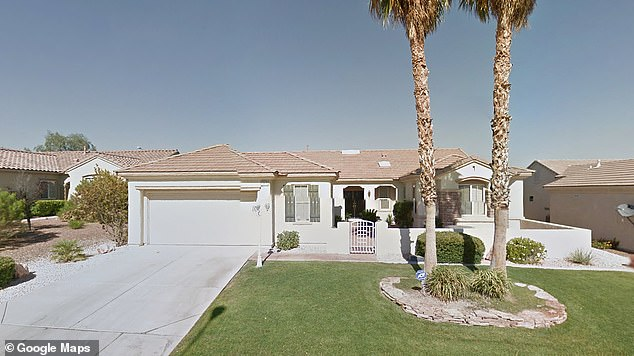Caparelli was found dead in his home in Nevada, pictured, after police were requested to carry out a welfare check. It is not clear who alerted them to his home or how long he had been dead